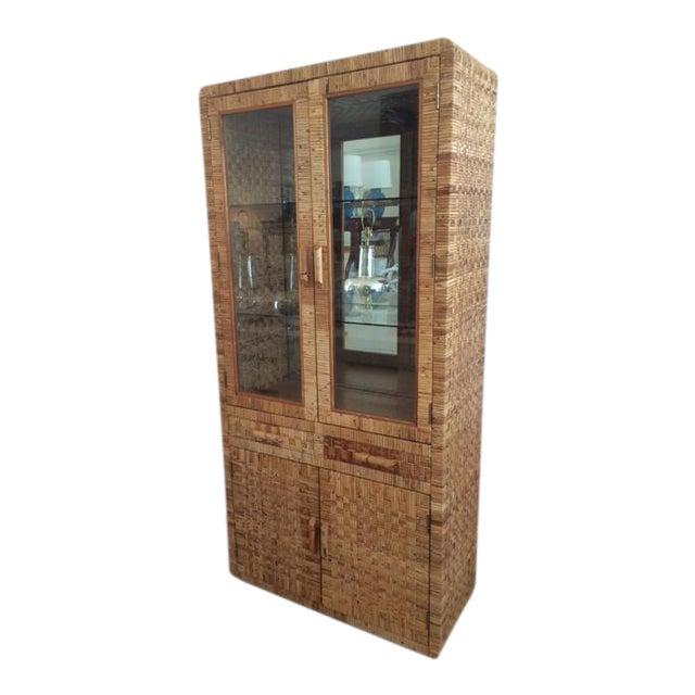 Vintage Bielecky Brothers Glass Door Cabinet Chairish
