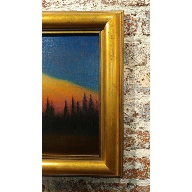 Oil Paint James Everett Stuart- Sunset Glow at Mt Shasta -Beautiful Oil Painting 1921 For Sale - Image 7 of 10
