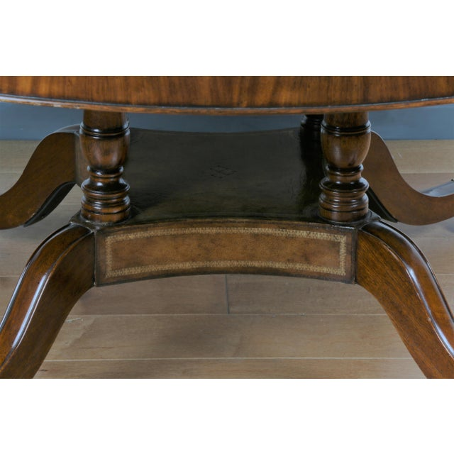 Metal Large Maitland Smith Round Dining Table For Sale - Image 7 of 13