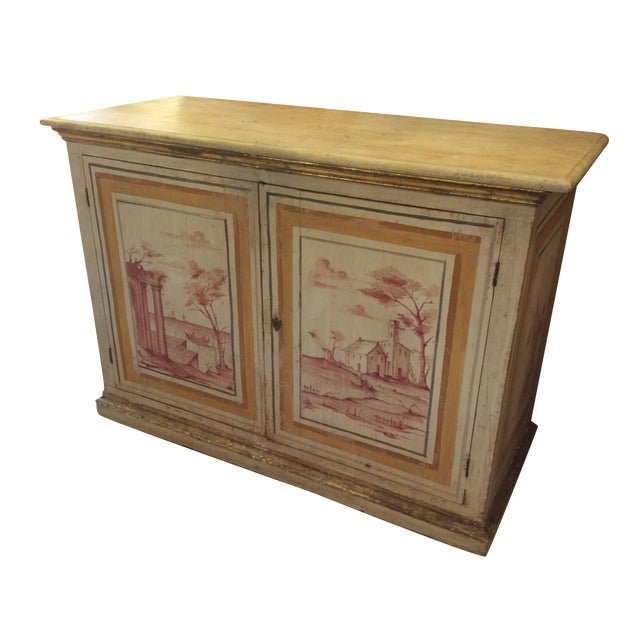 Antique Italian Painted Credenza - Image 1 of 8
