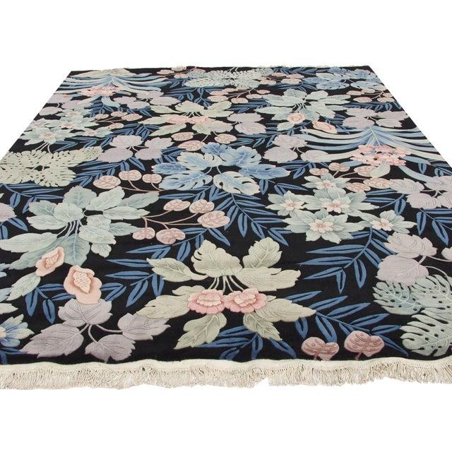 Textile Vintage Jungle Carpet - 10' X 14' For Sale - Image 7 of 12