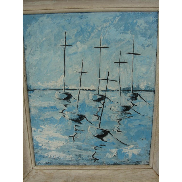 Mid-Century Modern Abstract Impressionist Painting - Image 3 of 7