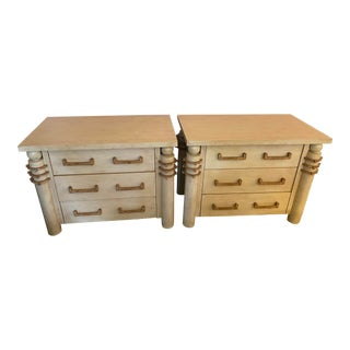 PostModern Wood Chests of Drawers a Pair For Sale