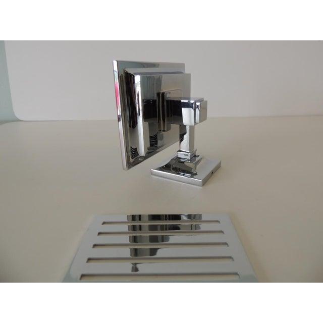 2020s Restoration Hardware Small Shower Basket Satin Nickel For Sale - Image 5 of 7
