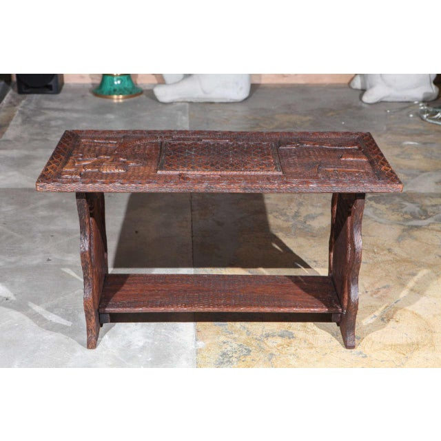 African African Coffee Table For Sale - Image 3 of 8