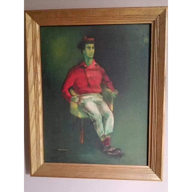 Mid-Century Fauvist Portrait of a Man - Image 8 of 8
