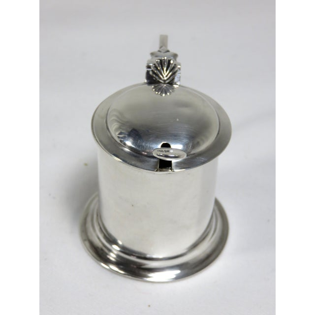 1900s Victorian Sterling Silver Mustard Pot For Sale - Image 4 of 8