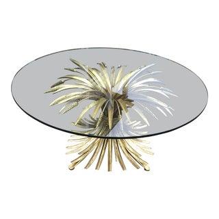 Bernhardt Gold Wheat Sheaf Table Showroom Sample For Sale