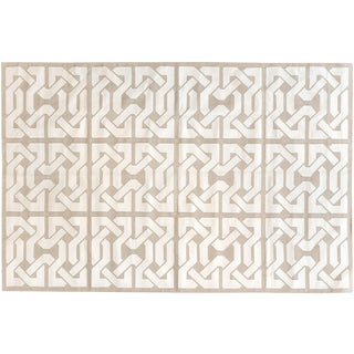 Stark Studio Contemporary Cotton Dhurries Cotton Rug - 7′10″ × 10′1″ For Sale