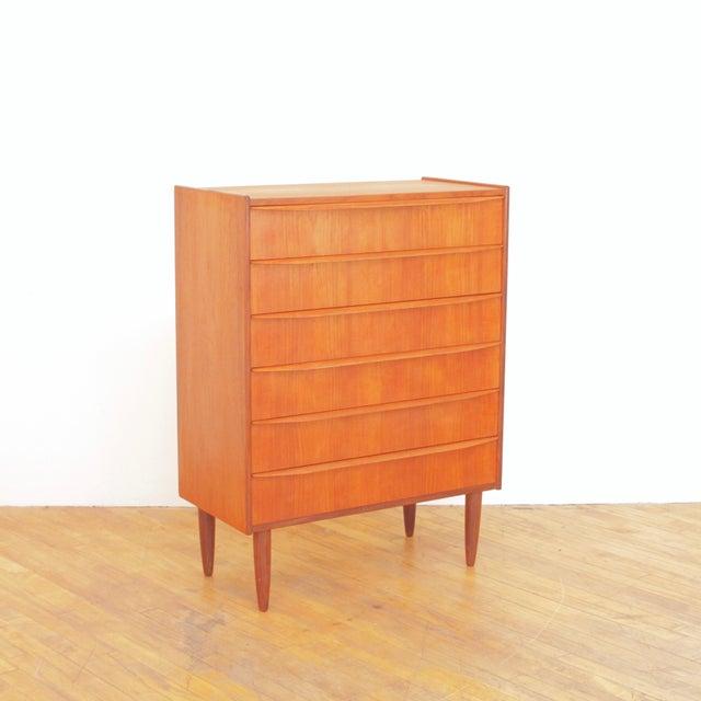 Vintage Danish Teak Highboy Dresser For Sale - Image 12 of 12