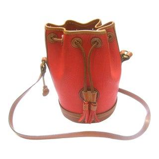 Dooney & Bourke Rare Red Leather Saddle Shoulder Bag For Sale