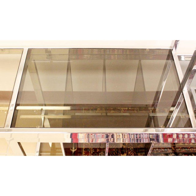 1970s Mid Century Modern Baughman Chrome Expandable Shelving Unit Etagere 1970s For Sale - Image 5 of 8