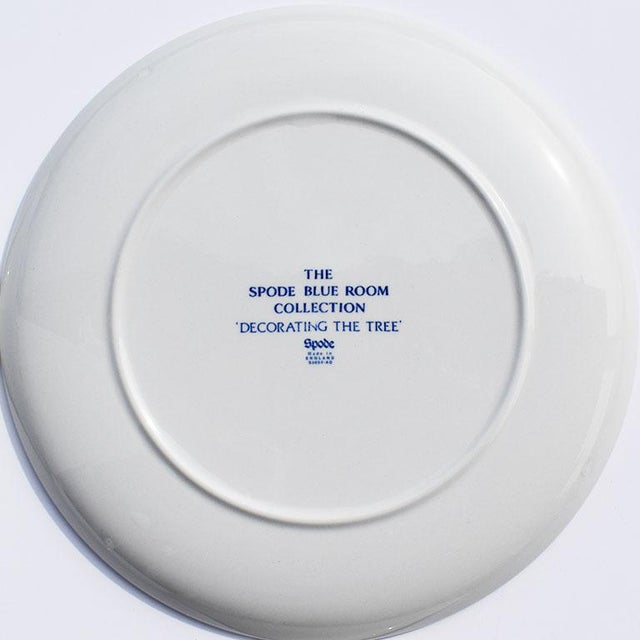 Spode Georgian Blue and White Ceramic Christmas Plates - Set of 4 For Sale - Image 11 of 12