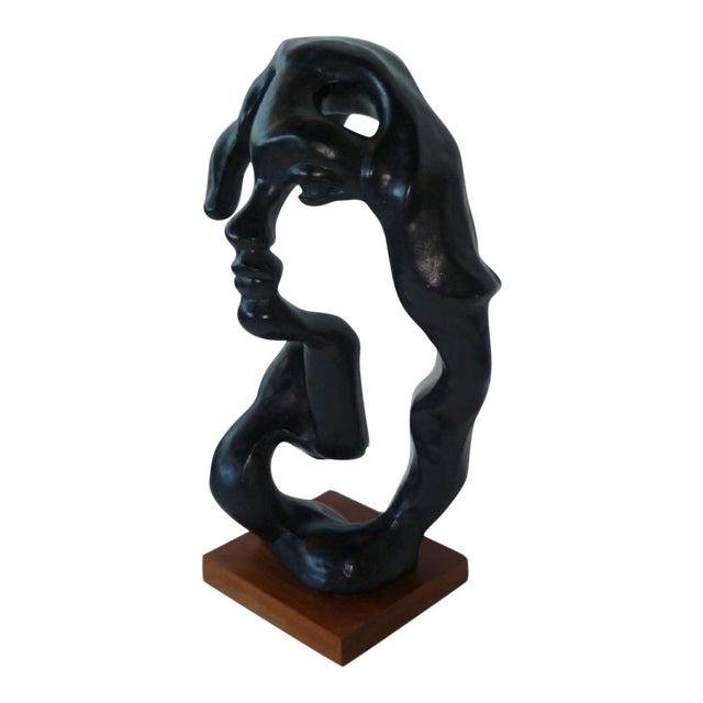 Modern Surreal Portrait of a Woman Sculpture by Klara Sever For Sale