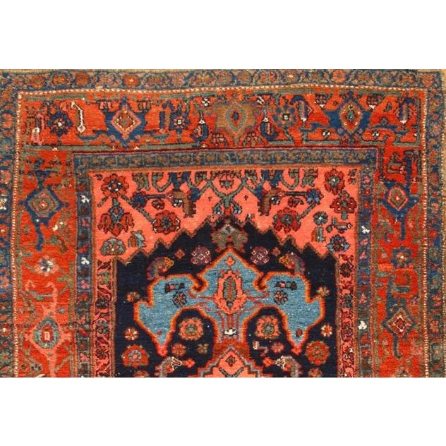 """Islamic Pasargad NY Antique Persian Bidjar Hand-Knotted Rug - 4'4"""" x 5'11"""" For Sale - Image 3 of 3"""
