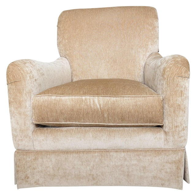 King Hickory Furniture Gold Fabric Chair - Image 1 of 5