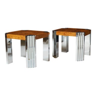 Milo Baughman End Tables - a pair For Sale