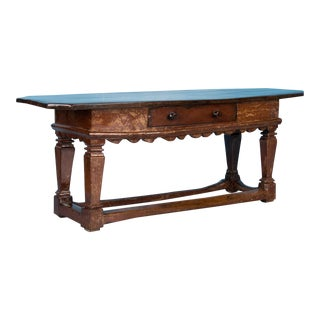 Antique 18th Century Danish Baroque Console Table For Sale