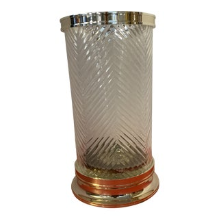 Ethan Allen Crystal and Silver Hurricane For Sale