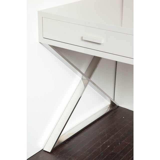 Venfield Custom Oversized High Gloss Lacquer Desk For Sale - Image 4 of 10