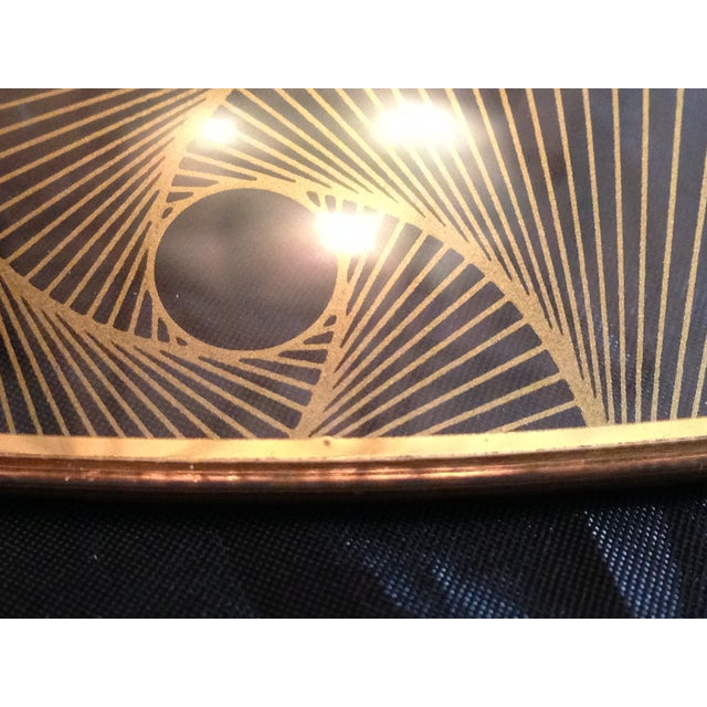 Op Art Gilded Glass Serving Plate - Image 8 of 10