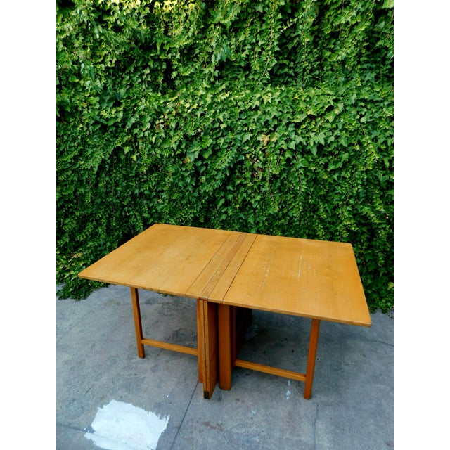 1930s 1937 Swedish Bruno Mathsson Folding Table For Sale - Image 5 of 12