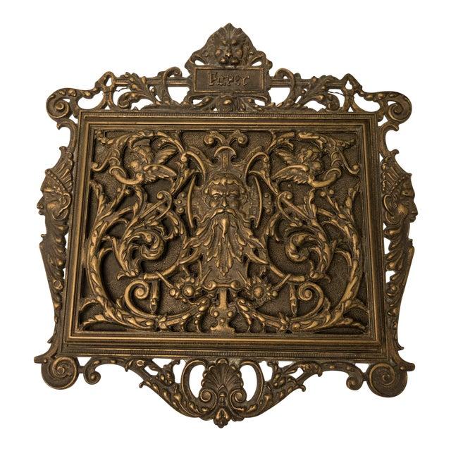 Italian Art Nouveau Bronze Letter Holder For Sale