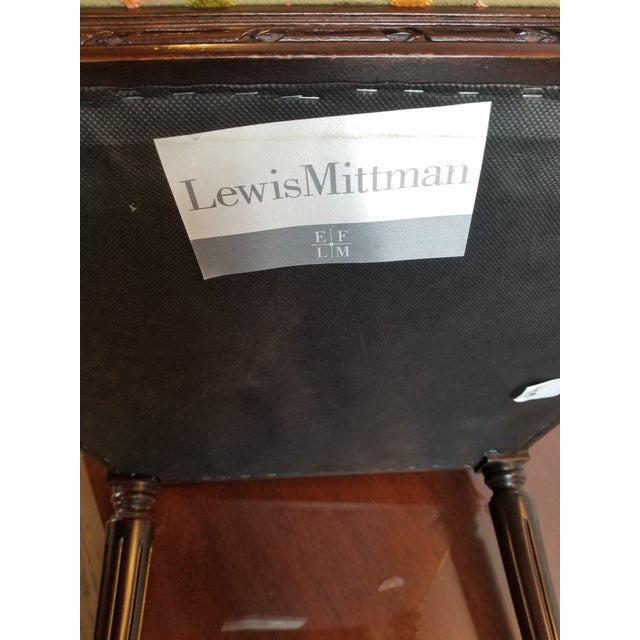 Army Green 1980s Lewis Mittman Side Chair For Sale - Image 8 of 12