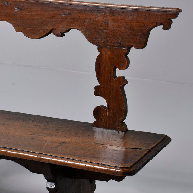 19th Century Italian Primitive Hand Carved Bench For Sale In Detroit - Image 6 of 13