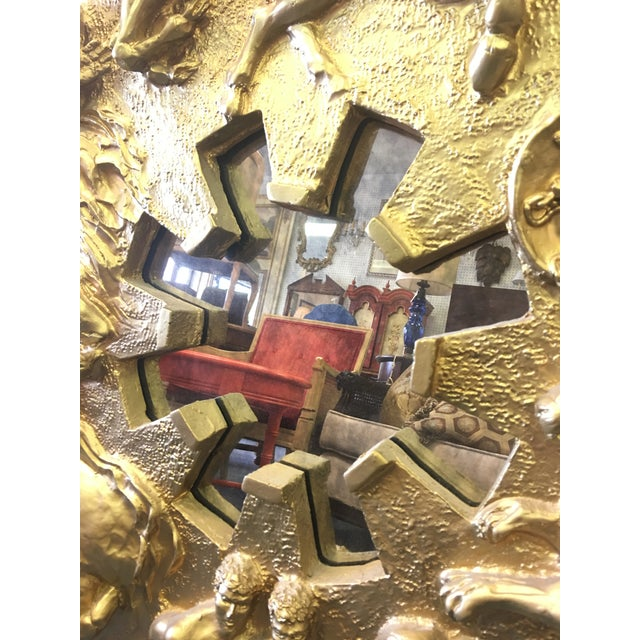Aesthetic Movement Vintage 1970's Zodiac Figural Mirror For Sale - Image 3 of 8