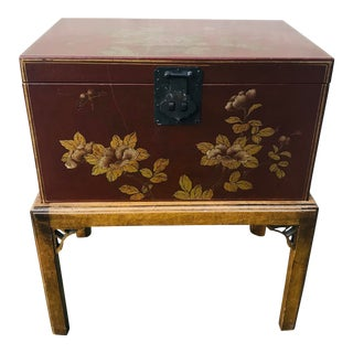1970s Vintage Chinoiserie Chairside Chest For Sale