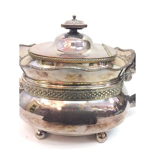 Metal Antique Silver Plated Copper Teapot For Sale - Image 7 of 12