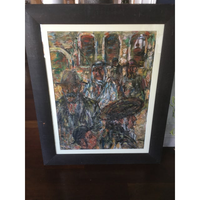 1970s Vintage Abstract Mathias Barz Original Oil Painting For Sale - Image 6 of 13