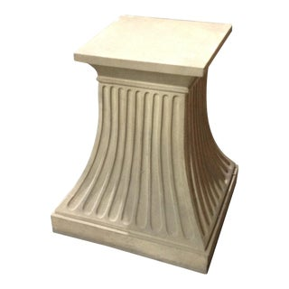 Modern Fluted Wooden Dining Base For Sale