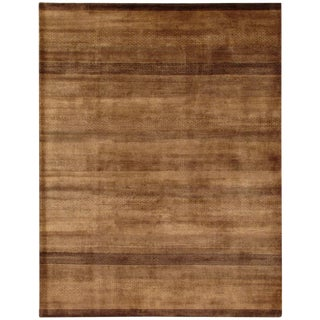 "Pasargad Gabbeh Brown Lamb's Wool Rug- 5' 0"" X 7' 7"" For Sale"