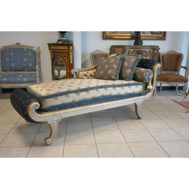 Vintage Hand Carved Chaise Lounge - Image 2 of 11
