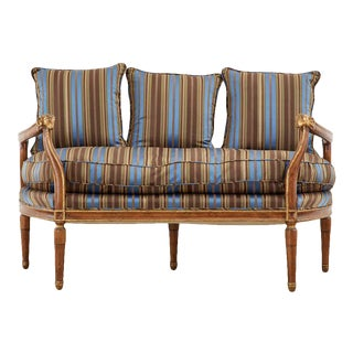 Neoclassical Louis XVI Style Backless Bench Settee For Sale