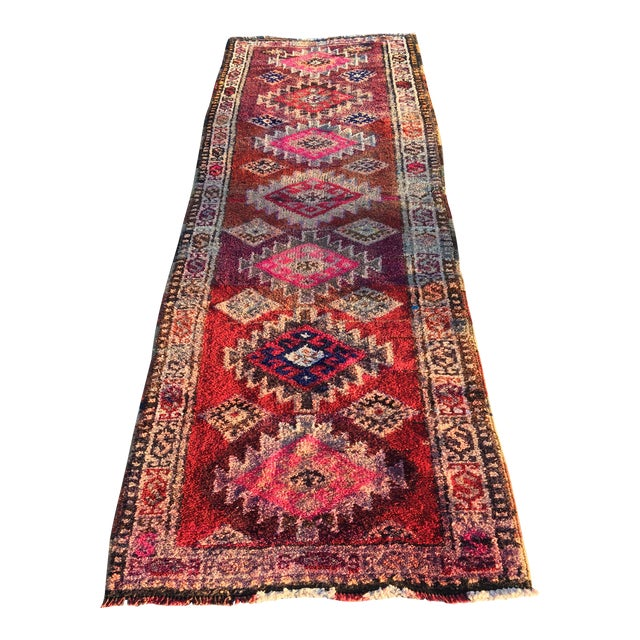 "Vintage Turkish Oushak Runner - 3' x 9'2"" - Image 1 of 11"