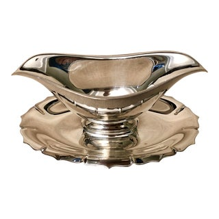 Early American International Silver Co Gravy Bowl For Sale