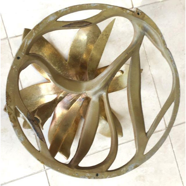 20th Century Hollywood Regency Arthur Court Lily Side Table For Sale - Image 11 of 12
