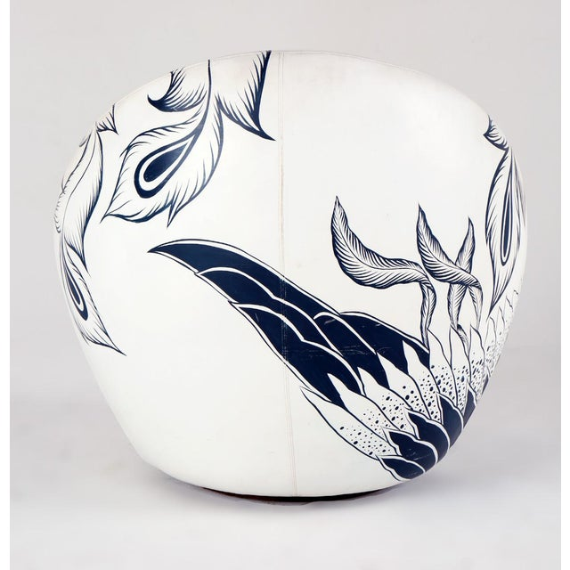 1960s Milo Baughman Thayer Coggin Swivel Egg Chair For Sale - Image 5 of 13