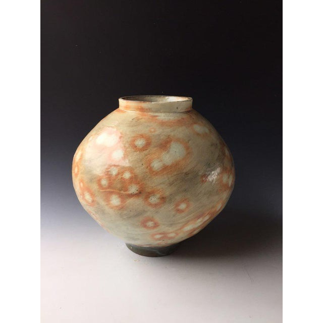 Contemporary Kang Hyo Lee, Buncheong Moon Jar, 2016 For Sale - Image 3 of 3