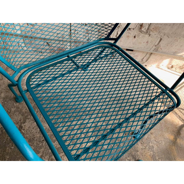 Metal Vintage Wrought Iron Patio Set in the Manner of Russell Woodard For Sale - Image 7 of 9
