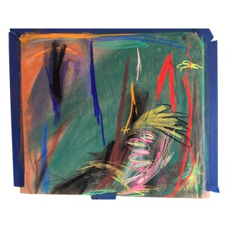 Abstract Pastel Original by Erik Sulander 24x27 For Sale