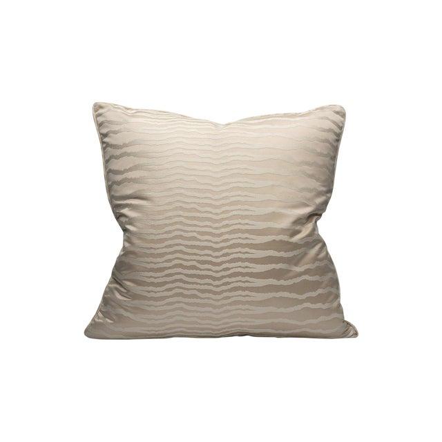 Desert Mirage Pillow, Platinum For Sale