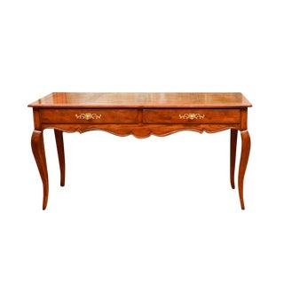 1980s Henredon Louis XV Style Oak Console Table