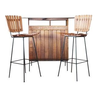 Arthur Umanoff Bar and Stool Set - 3 Pieces