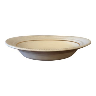Final Price! Early 20th Century Vintage Salem China Co 23 Karat Gold Rimmed Oval Bowl For Sale