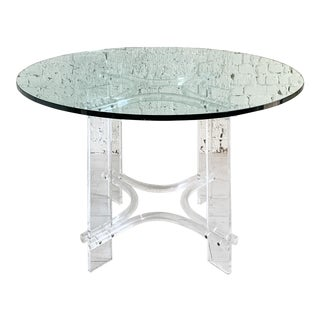 Vintage Modern Lucite Dining Table For Sale