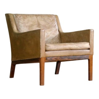 Kai Lyngfeldt Larsen Easy Chair Model 39 Leather Rosewood for Søren Willadsen For Sale
